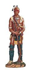"17"" Native American Indian Warrior w/ Rifle Statue Figurine Indio North"