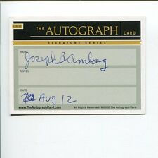 Joseph Amlong 1964 Olympic Gold Medal Rowing Eights Signed The Autograph Card