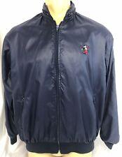 Vintage LA MODE Men's Navy Mickey Mouse Golfer Lined Windbreaker / Jacket ~ Sz L