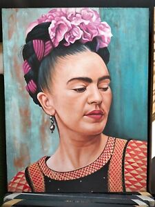 Frida Kahlo beautiful portrait Fine Art Painting Hand Painted master peace