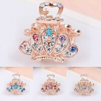 1pc Crystal Hairpins Rhinestone Hair Claw Mini Crown Hair Clip Claw Barrette
