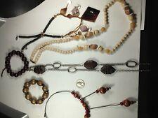 6 Vintage Costume Jewelry Pcs: 4 Necklaces 2 bracelets#15033