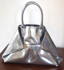 Akris-Metallic-Silver-Leather-Bag