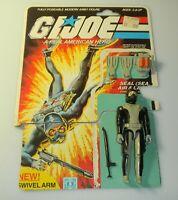 1983 GI Joe Torpedo Navy Seal v1 Scuba Diver Figure Complete w/ File Card Back