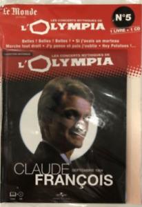 LIVRE + CD AUDIO - LES CONCERTS MYTHIQUES DE L'OLYMPIA, CLAUDE FRANCOIS / NEUF