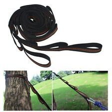 2pcs Adjustable Hanging Hammock Tree Strap Rope Heavy Duty Extension Belt