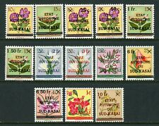 South-Kasai Michel #1-13 MNH Sud-Kasai and Values OVPT on Flowers FLORA $$