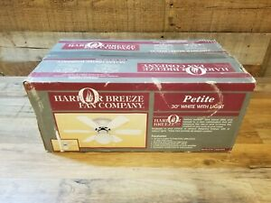 """Harbor Breeze Petite White 30"""" Ceiling Fan With Light - Brand New In The Box"""