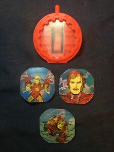 Mattel Marvel Superheroes Secret Wars IRON MAN SHIELD 3 INSERTS accessories 1984