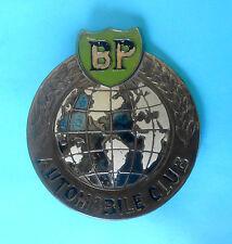 BRITISH PETROLEUM ( BP ) - AUTOMOBILE CLUB .... old large car grill badge emblem