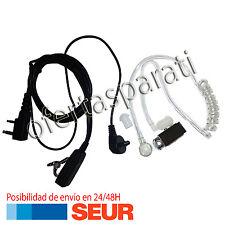 Auricular para Emisora Baofeng-Pofung con soporte tubular transparente y rizado