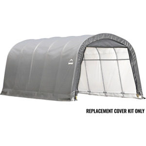 Shelterlogic 90541 12x20x8 ft. Round Garage in a Box Replacement Cover - Gray