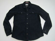 Mens Small Apolis Global Citizen Idigo CPO Jacket shirt wool blend blue