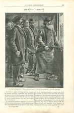 Les tireurs d'Arbalète d'Eugène Buland Peintre GRAVURE ANTIQUE OLD PRINT 1892