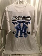 New York Yankees  White 2009 World Series Champs T-Shirt - Size XL - FREE SHIP!
