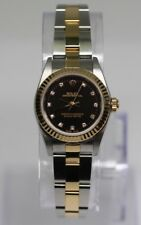 Women's Rolex 2003 Oyster Perpetual 76193 25mm 18k Gold & Stainless Diamond Dial