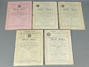 Four Yorkshire Centre Speed Trials Programmes 1923 - 1926 Motor Club   44