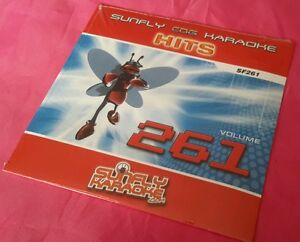 Karaoke CD+G disc, Sunfly Hits Vol 261, see Descript 15 tracks/arts POST FREE UK
