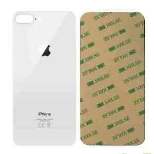 Vitre arriere iPhone 8 Plus Blanc - Avec logo + Adhesif