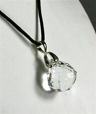 "Crystal Faceted Ball 20mm/3/4"" Pendant Necklace"