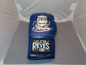 Manny Pacquiao Signed Cleto Reyes Blue Boxing Glove Autograph Beckett BAS COA 1A