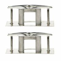 """2 Pcs Stainless Steel 316 Pull up Cleat Pop-up Flush Mount Lift - 6"""" Deck Ceat"""