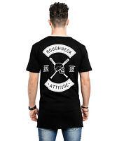 Phoenix Roughneck Crew Side Zip T-Shirt Longshirt Black Extended Oversize
