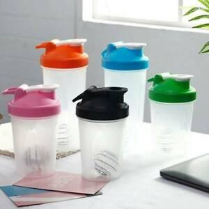 400ml Protein Blender Shaker Mixer Shake Cup Drink Whisk Bottle Sports