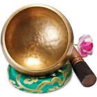 Große Tibetische Klangschale 500g, 13cm. Set für Yoga Meditation Schule als Gong <br/> Set in Geschenkbox - Direkt vom Hersteller aumondo
