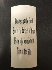 Dumbledore Quote Harry Potter Vinyl Lantern/Vase/Bottle Decal