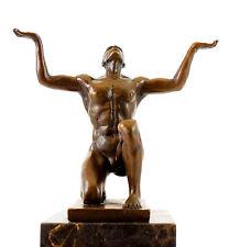 Escultura de bronce-kniender Adonis-sign. Milo