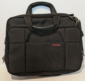 "Codi Black Briefcase 16"" Laptop Computer Carrying Case Messenger Bag"