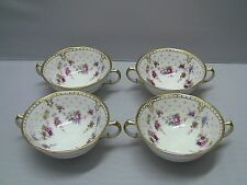 Royal Crown Derby ROYAL ANTOINETTE Cream Soup Bowls / Set of 4.