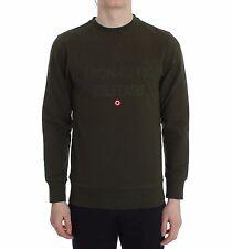 NEW AERONAUTICA MILITARE Sweater Green Cotton Stretch Crewneck Pullover s. XL