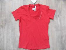 CALVIN KLEIN schönes Shirt rot m. V-Ausschnitt Gr. L NEU 518