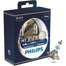 Philips RacingVision +150% H7 headlight bulb 12972RVS2, twin pack - chrome