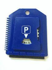 Parkscheibe - Eiskratzer - Neu - Parkuhr - Parkscheibe mit Eiskratzer - Blau