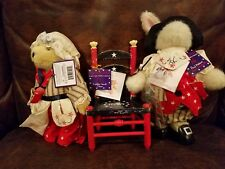 NABCO Abearicana Stars Stripes Muffy Hoppy and Chair Paul Revere & Betsy Ross