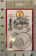 New Scrapping For Less Photopolymer Stamp Set Ornamental Christmas Be Merry