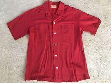 Scott's VTG Red Button Down Short Sleeve Rare 50's 60's Original Mod Cool