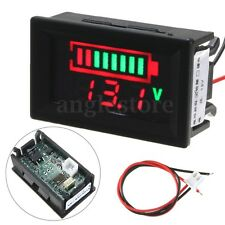 12V Acid Lead Battery Status Indicator Capacity Dual 2 Display LED Tester Meter