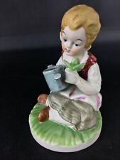 Très fine en détails : Statuette figurine art Capodimonte biscuit de porcelaine