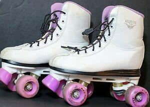 Womens Roller Derby Roller Star 550 Skates White & Purple Size 5