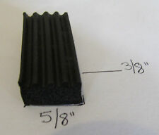 """Auto RV Marine 5/8"""" Self Adhesive Rectangle Ribbed Rubber Weather Seal Strip"""