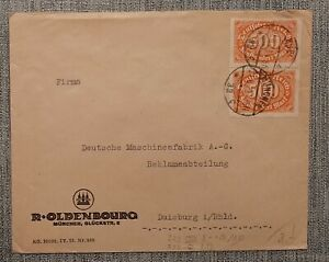 GERMANY - DEUTSCHES REICH (b506) nr. 223 on cover 21-08-1923
