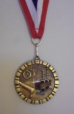 GYMNAST MEDAL MEDALLION AWARD RIBBON 3D FULL COLOR  PERSONALIZED FREE