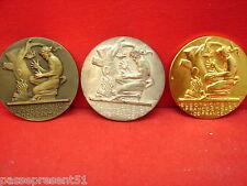 3 jolies anciennes médailles électricité et gaz de France