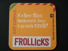 Beer COASTER: General Mills FROLLICKS All Cheese Crisps, Insatiably Curious zzub
