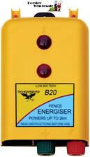 2km 12 Volt B20 BATTERY Powered Electric Fence ENERGISER-Thunderbird RRP $148.00