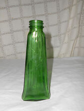 Vintage green glass art deco bottle